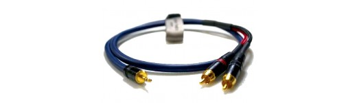 Y Splitter Cables 2 Pair Blue Studio Series